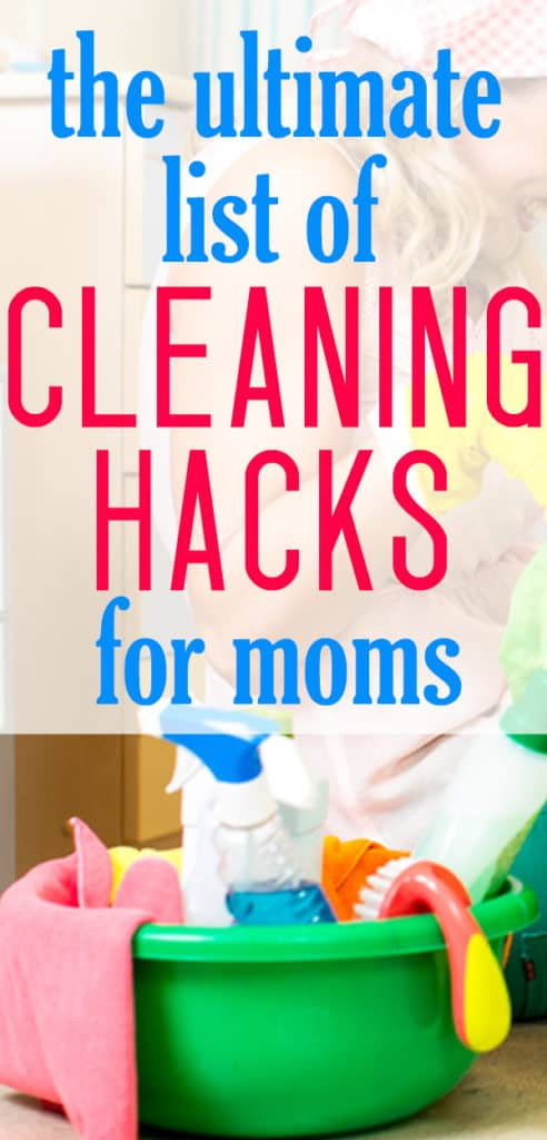 cleaning hacks for parents