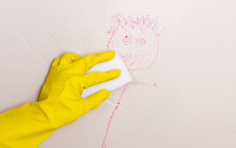 how to get crayon off the wall - cleaning tip