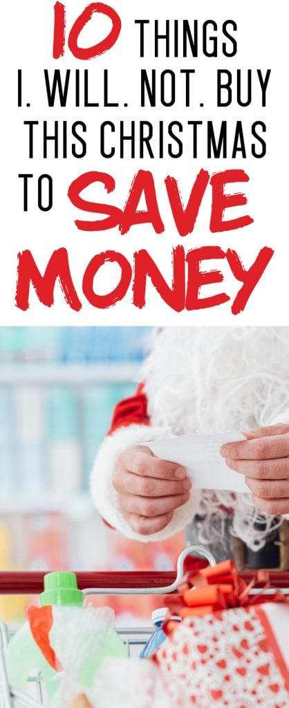 saving money at christmas