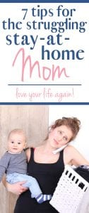 be a happy stay at home mom