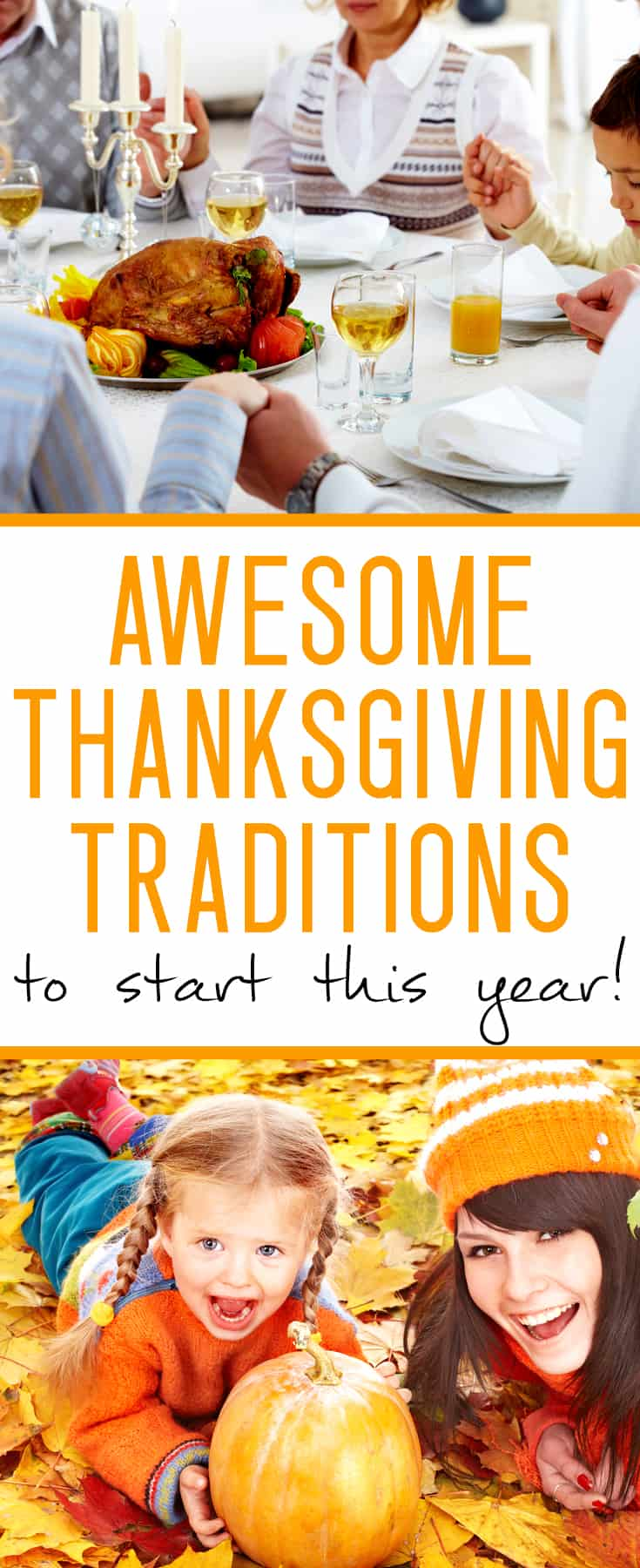 Thanksgiving traditions ideas - traditions are an awesome way to create memories your kids will cherish forever! Try these out this year.
