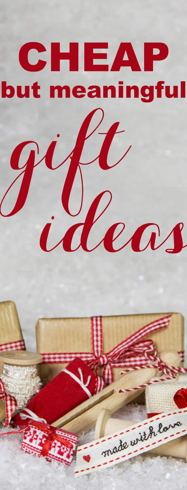 Cheap but Meaningful Christmas Gift Ideas - Mommy on Purpose