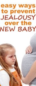 preventing jealousy over a new baby