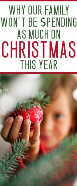having an intentional christmas - this year we won't be going crazy with the Christmas spending.