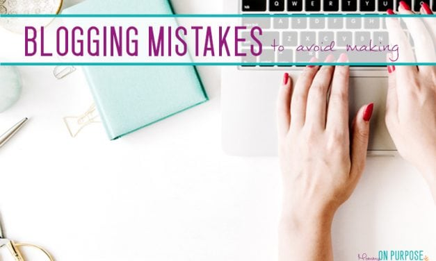 Stupid Blogging Mistakes I Made (so you don't have to!)