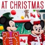 christmastime at disneyland