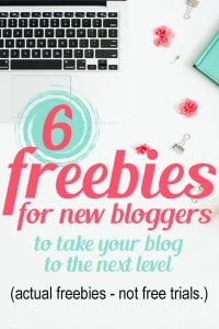 New to blogging or starting a blog? You will LOVE these freebies for bloggers!