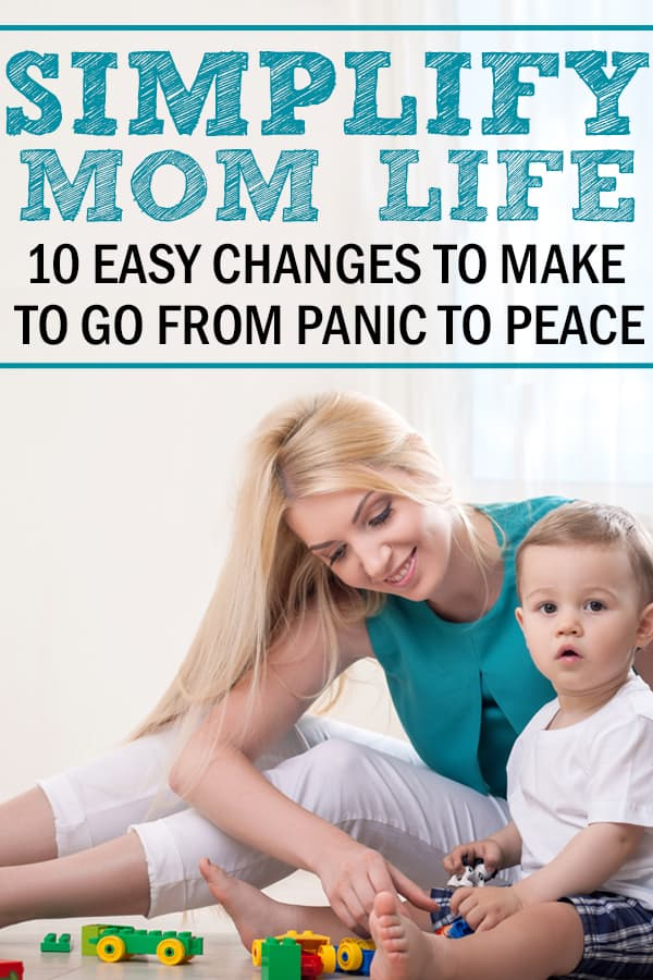 simple living ideas for moms