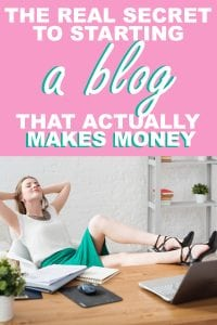 starting a blog that makes money
