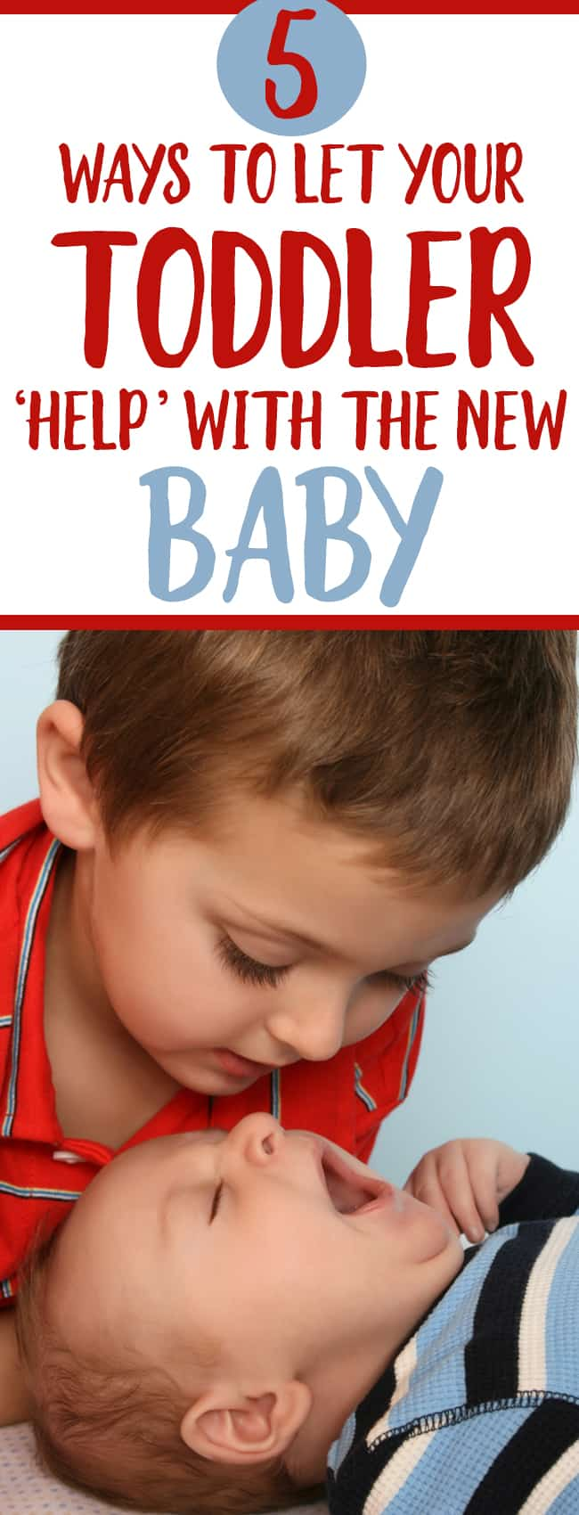 Letting your toddler help with a new baby is a GREAT way to let baby number one  adjust to baby number 2!  Parenting tips every new mom needs with a baby and toddler!