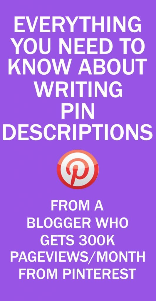 PINTEREST PIN DESCRIPTIONS TIPS FOR BLOGGERS