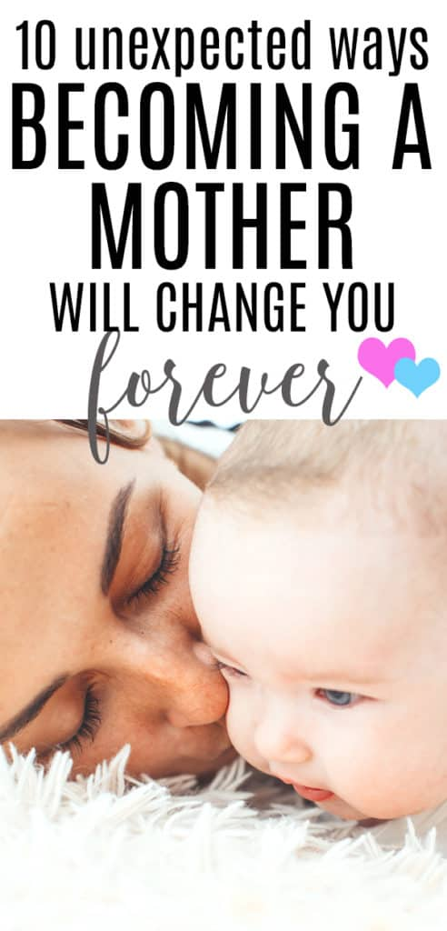 Motherhood will change you forever.  You can't possible prepare for what it will be like... but it will be so worth it! #motherhood #momlife #pregnant #pregnancy #postpartum #baby