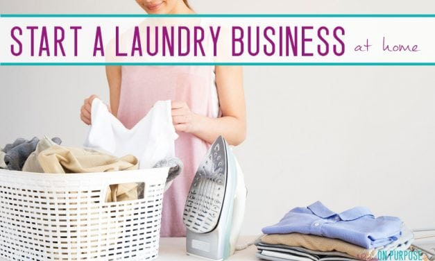 Start a laundry business: The perfect NON-phone NON-computer side hustle for moms
