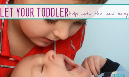 "5 ways your toddler can ""help"" with a new baby"