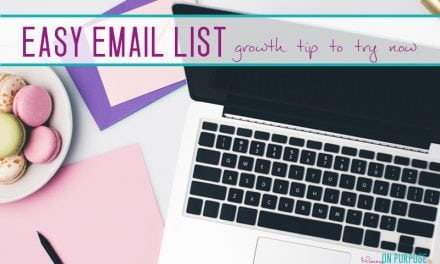 How I'm growing my email list WITHOUT increasing blog page views OR creating a new freebie!