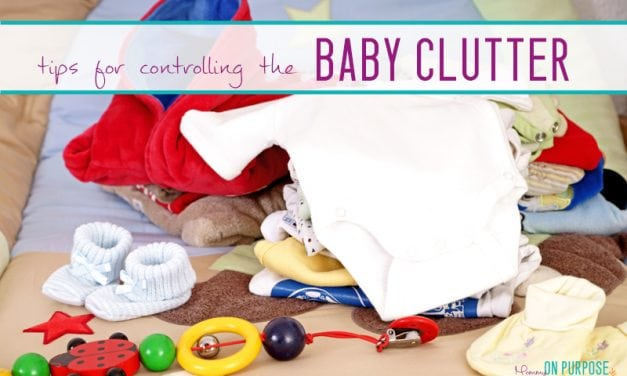 5 Tips to Help You Control Baby Clutter