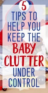 baby clutter tips for new moms