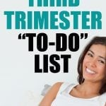third trimester to-do list
