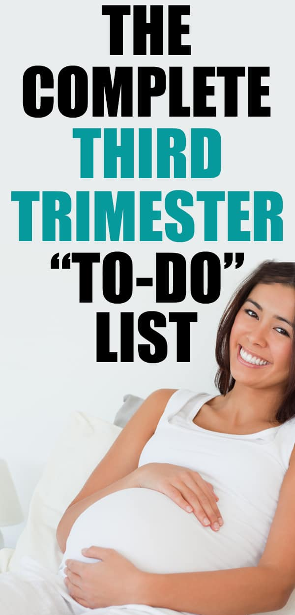 THIRD TRIMESTER TO DO LIST - get ready before baby comes mama! These things are important but easy to over look... new moms NEED this third trimester checklist!