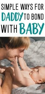 ways for dad to bond with breastfed baby