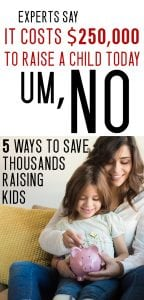 saving money tips for parents