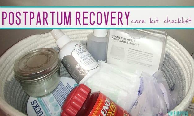 Postpartum Care Kit Checklist (all the postpartum essentials)