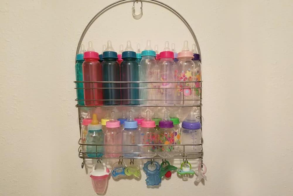 postpartum hacks - bottle storage