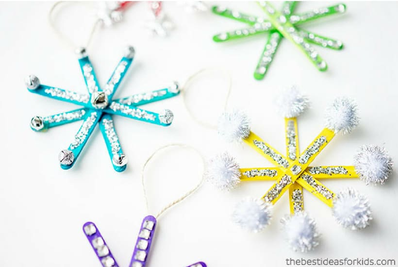 snowflake DIY Christmas Ornaments to Make With Toddlers