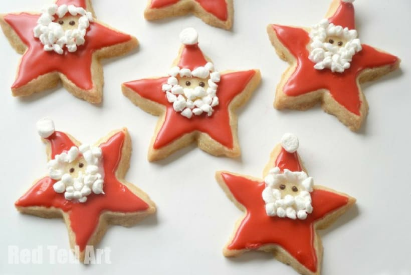 DIY Christmas Ornaments to Make With Toddlers santa cookies