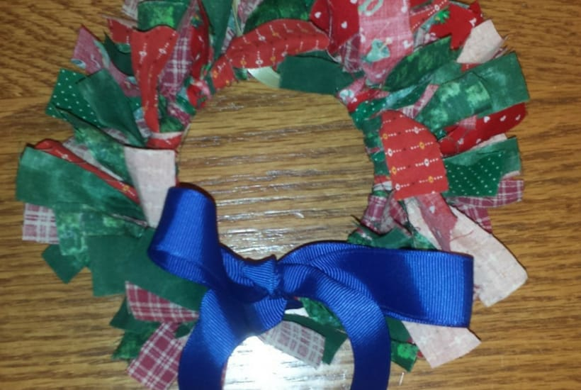 wreath DIY Christmas Ornaments to Make With Toddlers santa
