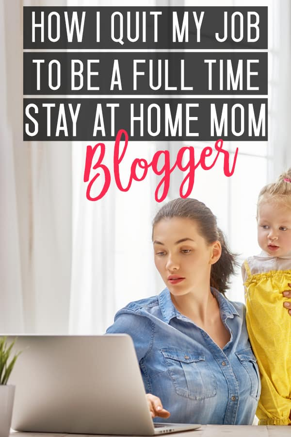 start a blog as a stay at home mom