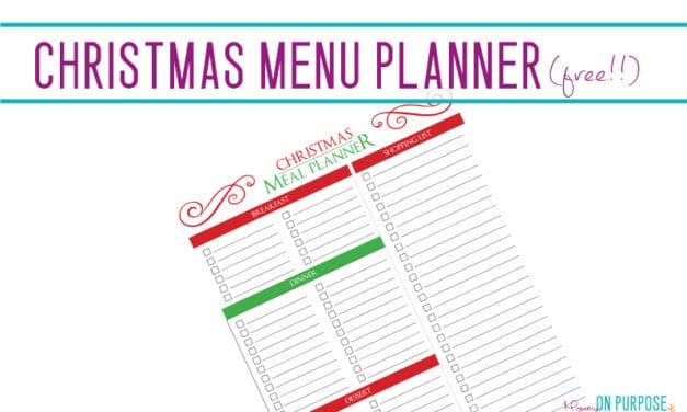 Free Printable Christmas Menu Planner