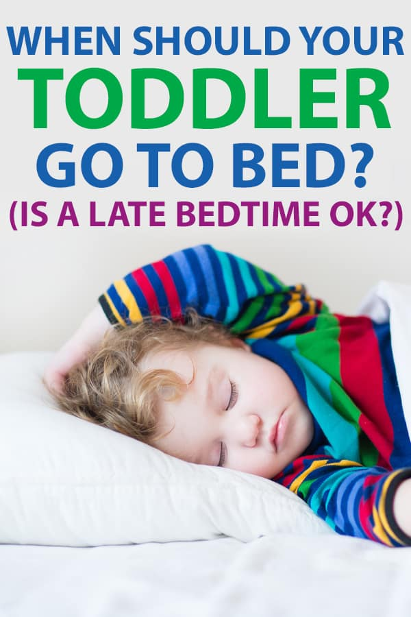 when should a toddler go to bed