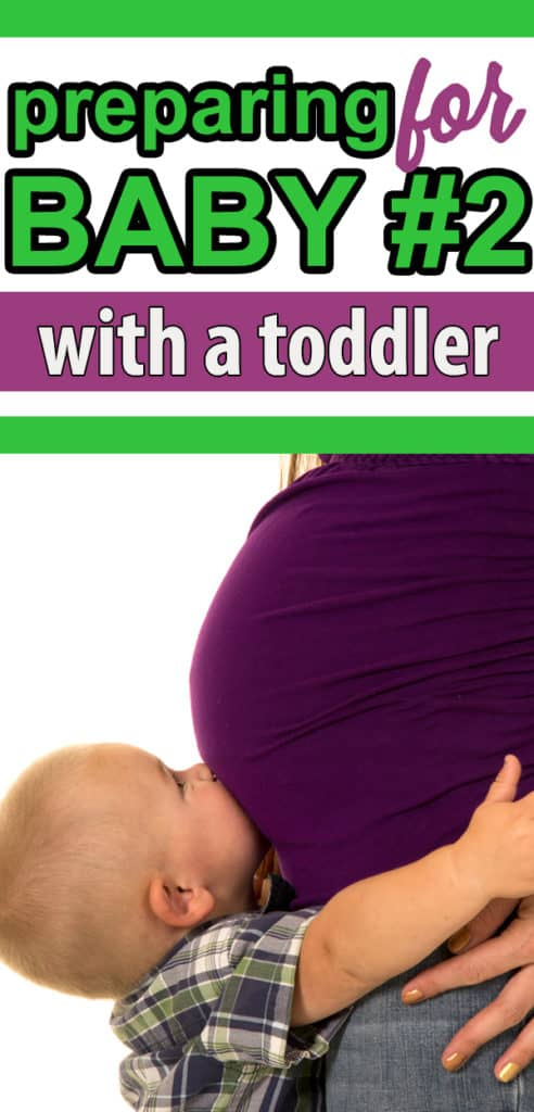 preparing for your second baby with a toddler - it's a whole different deal, the second time around! Even pregnancy is different.  If baby number 2 is on the way, you will want to save this! #pregnant #babynumbertwo #secondbaby #baby
