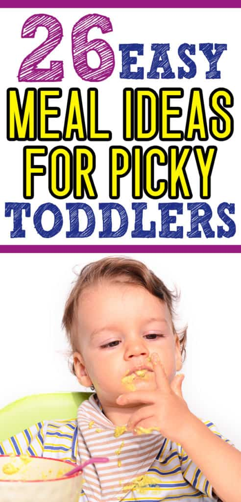 what to feed a picky toddler - toddler food ideas for those hard to feed kiddos! If toddler is a picky eater, you will want to save this list of toddler meals. (Also includes a list of ideas for lunch at daycare!) #toddler #momlife #kids