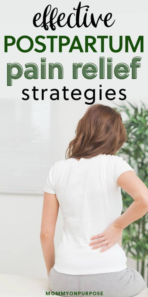 how to treat postpartum pain pinterest pin