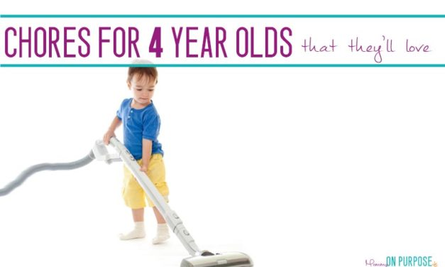 Chores for 4 Year Olds (that they'll be excited to do!)