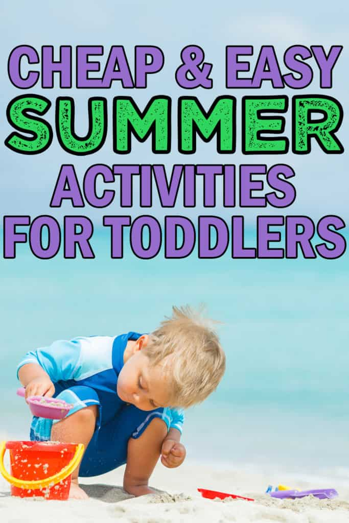 summer time activities for toddlers