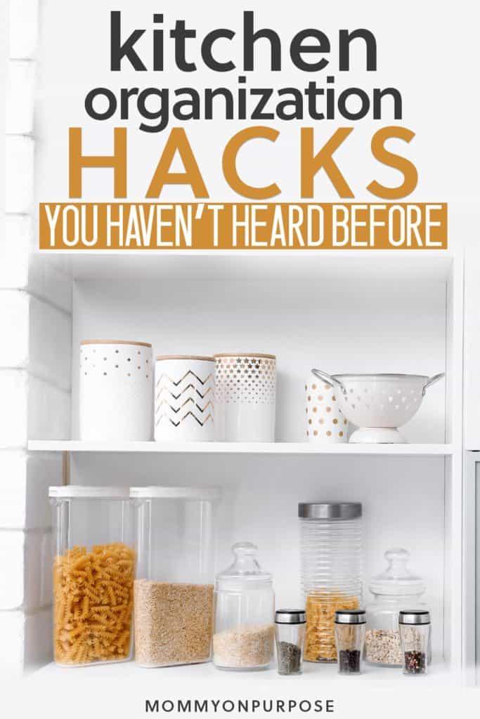kitchen organization hacks pinterest pin