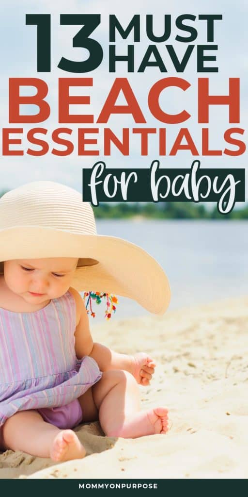 beach essentials for baby pinterest pin