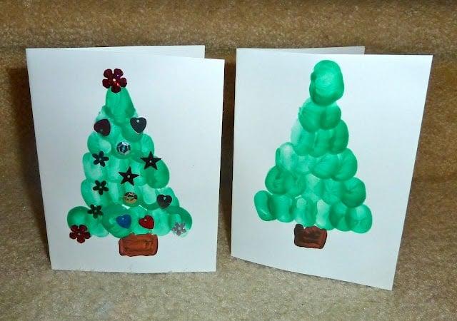 finger print card for kids to make