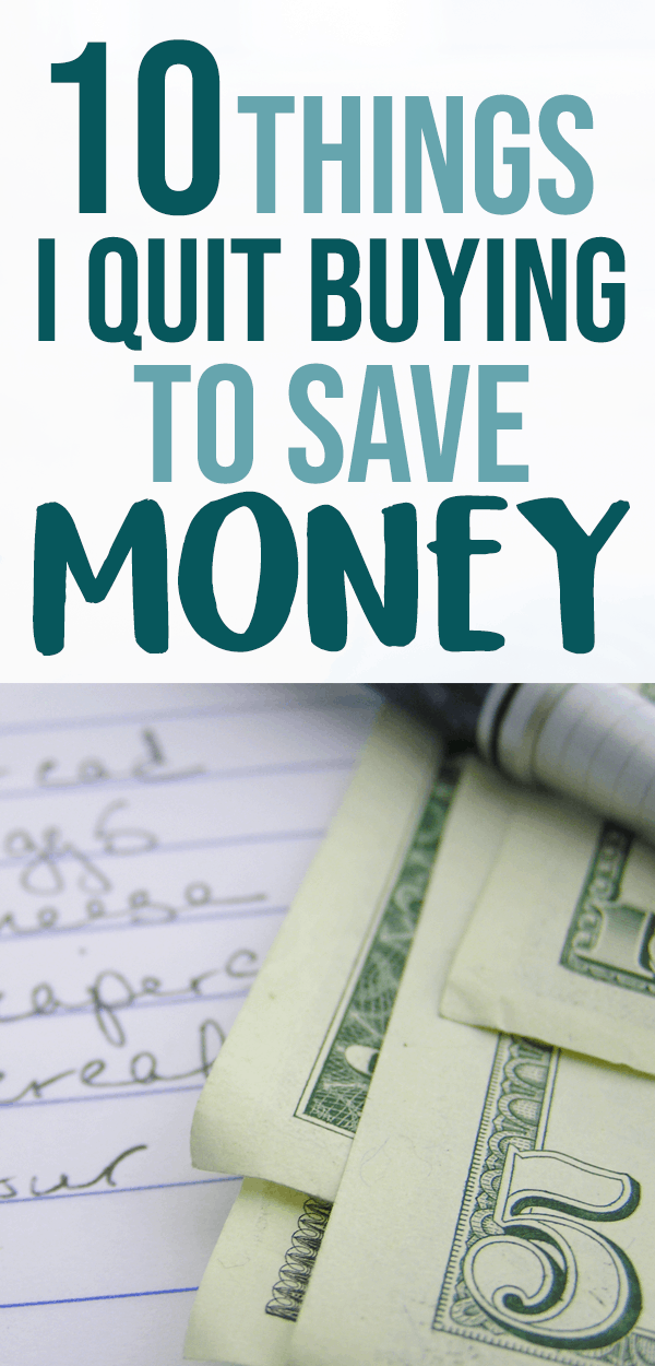 saving money ideas