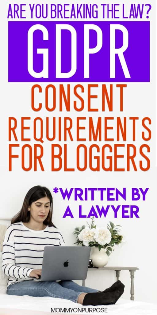 gdpr compliance for bloggers pinterest pin
