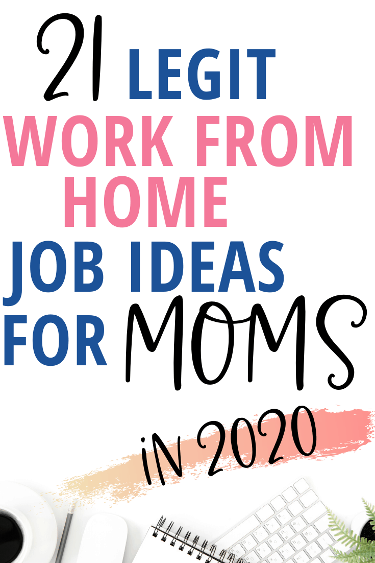 stay at home mom jobs to make money from home. These job ideas can be side hustles or you can turn them into flexible careers! Great ways for moms to earn an income AND afford to be stay at home moms.