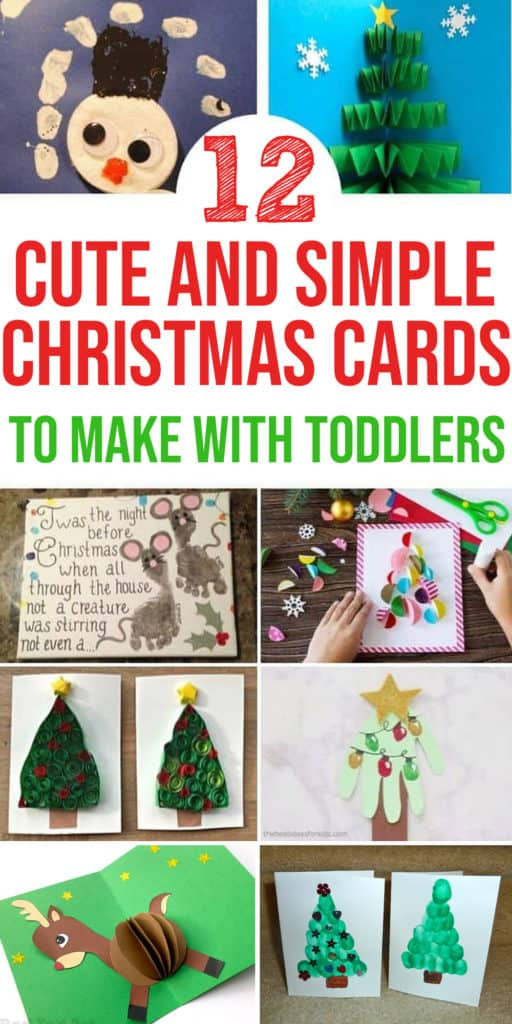 diy christmas cards to make with toddlers