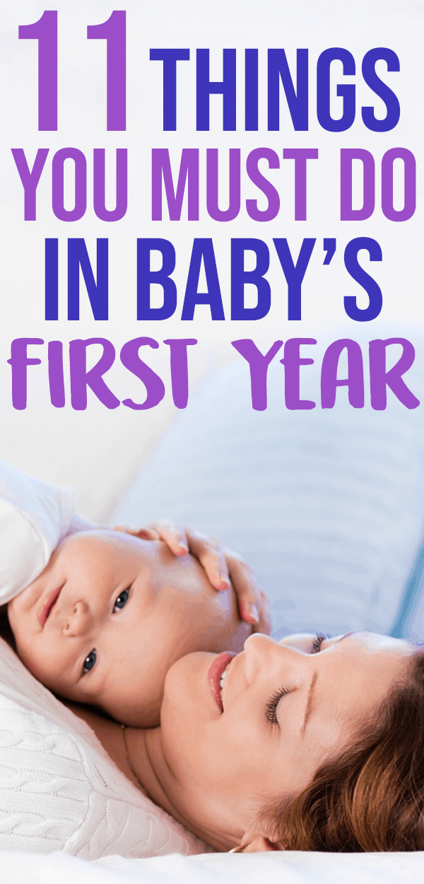 things to do in babys first year