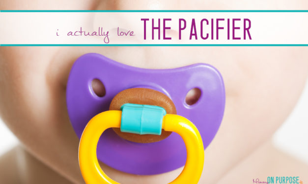 Stop Stressing About the Freaking Pacifier