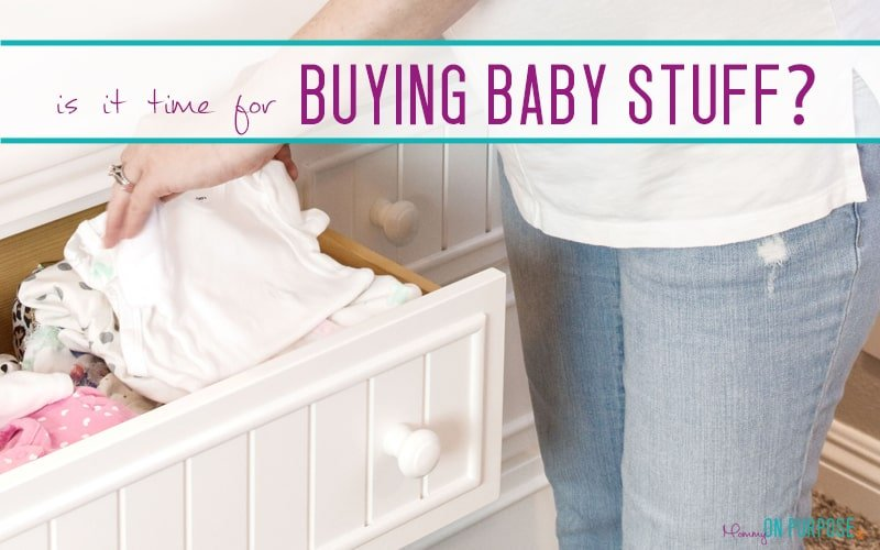 When Should You Buy Baby Stuff?