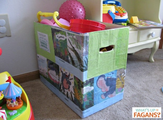 cheap idea for storing toys