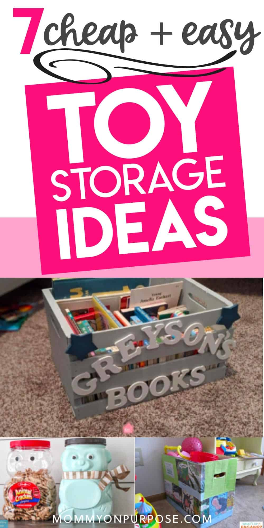 7 cheap and easy toy storage ideas pinterest pin